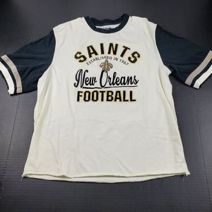 OTS New Orleans Saints Embroidered Ringer Tee XL